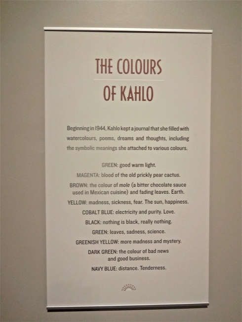 colours of Kahlo